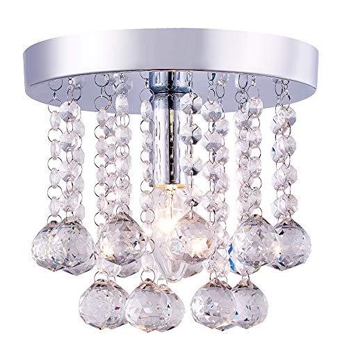 Kroonluchter stijl 1-light kleine inbouw kristalglas plafondlampfitting