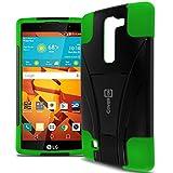 LG Volt 2 Phone Case, CoverON [Dual Defense] Hard Protective Hybrid Kickstand Slim Cover Case for LG Volt 2 - Neon Green & Black