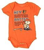 Outerstuff MLB Baltimore Orioles Baby Boys Infants Peanuts Love Baseball Creeper, Orange