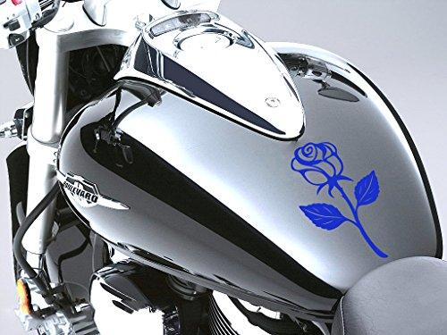 Rose Sticker Moto Réservoir à carburant voiture en 100 mm x 170 mm – Bleu Rose