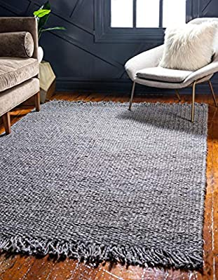 Unique Loom Chunky Jute Collection Solid Transitional Natural Area Rug (2' x 3')