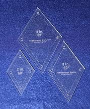 Diamond Templates. 2 Inch, 3 Inch, 4 Inch - 60 Degree - 1/8 Inch