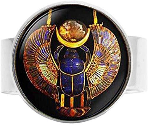 Ägyptischer Skarabäus Ring Vintage Art Foto Schmuck