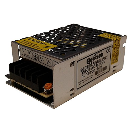 Alimentatore trasformatore 12V DC 3A 3000mA stabilizzato trimmer switching 36W 220V 110V grigliato metallico strisce striscia led strip telecamera videocamera switch 12Vdc 12Vcc 3,5A 35 40 42 W watt