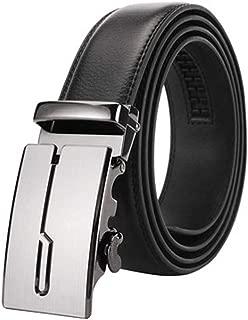 Hombre Cinturón Cuero Cinturones Hebilla Automática,35 mm de Ancho
