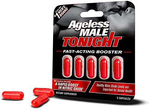 Ageless Male Tonight Nitric Oxide Booster Supplement. Powerful, Safe & Effective Male Enhancement Pills. Boost Performance on Demand (5 Capsules)