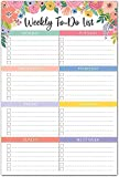 """Sweetzer & Orange Floral Weekly to Do List Notepad. Magnetic Weekly Planner Notepad with Daily Planner Agenda Squares. 9x6"""" Day Planner 2020 2021 - Student Planner, Work Planner and Checklist Notepad"""