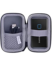 用の Samsung T7 T5 Touch 外付SSD 500GB 1TB 2TB専用保護 キャリングケース 旅行収納ケース -waiyu JP (黒)