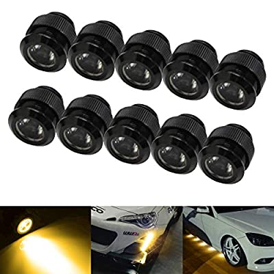 iJDMTOY 10pc 30W High Power Flexible LED Lighting Kit Compatible With Daytime Running Light or Under Car Puddle Light, 3000K Selective Yellow