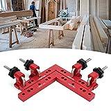 Regla de posicionamiento cuadrada, herramienta de medición roja de 90 grados de alta precisión portátil para trabajadores de la construcción para carpinteros para manitas