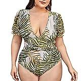 YANFANG Traje De BañO para Mujer Talla Grande,Bikini Dividido con Volantes Grandes Y Sexy A La Moda Mujer,Bikini,Verde,3XL