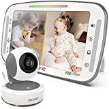 Video Baby Monitor, 1080P 5.5' FHD Display, IPS Screen, 1080P HD Cam, 12-Hour Battery Life, 1000ft Range, 2-Way Communication, Secure Privacy Wireless Technology