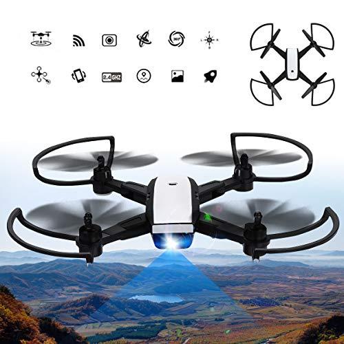 MROSW Faltbare Kamera Drohnen X28G Dual Wireless RC Quadcopter Kamera Drohne 2,4 GHz 4CH 720P 5MP Kamera Drohnen