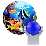 Projectables Tropical Fish LED Night Light, Plug-in, Dusk to Dawn, UL-Listed, Image on Ceiling, Wall, or Floor, Ideal for Bedroom, Nursery, Bathroom, 11161