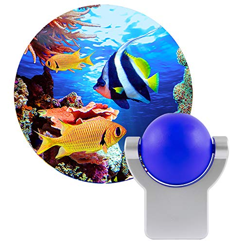 Projectables Tropical Fish LED Plug-In Light-Sensing Night Light, 11296