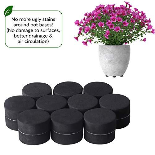 BELLE VOUS Potvoeten (40-Pak) -Onzichtbare Potvoeten voor Binnen- en Buitenpotten - Potschuimers van Massief Schuim met Zelfklevende Antislip-oppervlak - Beschermen tegen Potvlekken op Vloer en Tegels