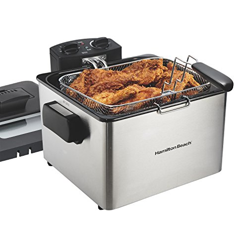 Hamilton Beach Professional Grade Electric Deep Fryer, 19 Cups / 4.5 Liters Oil...