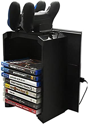 Docooler Dobe Multi-Functional Storage Stand Kit for PS4 Game Discs Controllers with Dual Controller Charging Dock