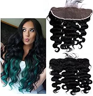 Unprocessed Peruvian Loose Body Wave Lace Closure 13x4 Virgin Human Hair 3/Three Part Cheap Swiss Lace Closures Bleached Knots 12