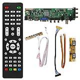 GROOMY V56 V59 Placa de Controlador LCD Universal DVB-T2 TV Board + 7 Key Switch + IR + 4 Inversor de lámpara + LVDS Cable Kit 3663