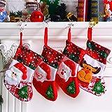 4 colgantes de muñeco de nieve de Papá Noel, adornos de Navidad, calcetines de Año Nuevo, Feliz Navidad, decoración del hogar, colgantes y amuletos