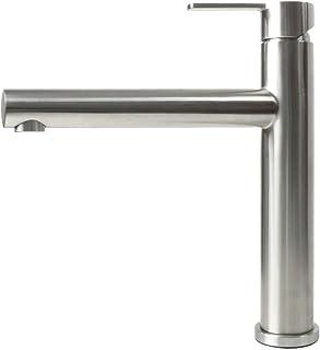 Spültischarmatur Wasserhahn Küche Spültisch Armatur Mizzo Design Stori - 100% Edelstahl Mischbatterie - matt gebürstet - Küchenarmaturen Waschtischarmatur Einhebelmischer