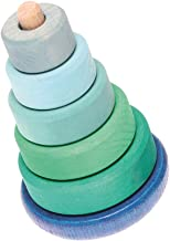 Wobbly Stacking Tower - Wooden Wobbling Stacker, Blue/Green