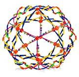 4E's Novelty Expandable Breathing Ball Toy Sphere for Kids Stress Reliever Fidget Toys Colors May Vary for Yoga Anxiety Relaxation Expands from 5.6' to 12'