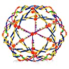 """4E's Novelty Expandable Breathing Ball Toy Sphere for Kids Stress Reliever Fidget Toys Colors May Vary for Yoga Anxiety Relaxation Expands from 5.6"""" to 12"""""""