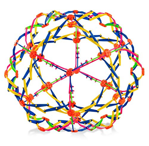 4E's Novelty Expandable Breathing Ball Toy Sphere for Kids Stress Reliever Fidget Toys Colors May...