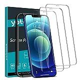 yotame [3 Pezzi] Copertura Completa Vetro Temperato Compatibile con iPhone 12 Mini, Pellicola Protettiva Compatibile con iPhone 12 Mini [Cornice di Allineamento] HD Protezione Schermo - 5,4'