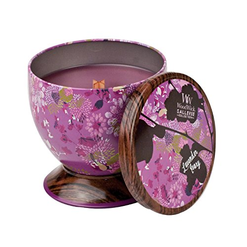 PAJOMA 62405 Dufkerze Lavender Ivory WoodWick Gallery Collection, 240 g