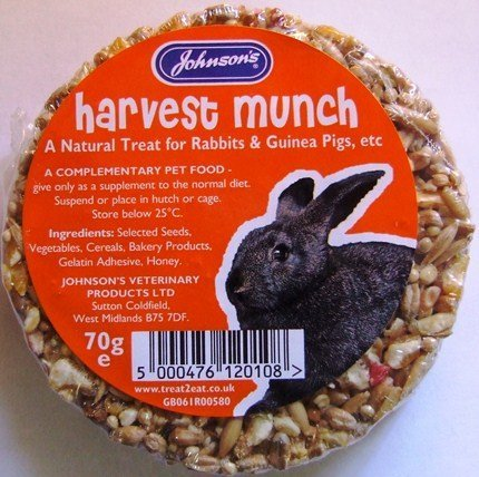 Johnson's Harvest Munch for Rabbits and Guinea Pigs 70g Bar