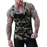 Herren Tank Top Mit Camouflage Druck Kanpola Slim Fit Muskelshirt Sport äRmellos T Shirt Kurzarm Unterhemd O-Neck Sweatshirt Sommer Bodybuilding Shirts