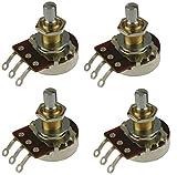 Bourns 500K Short Shaft (3/8' Bushing) Audio Pot/Potentiometer - Set of Four (4X) - Pro Audio Series