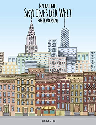 Malbuch mit Skylines der Welt für Erwachsene