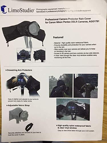 Kamera Regenschutzhülle, Adkwse Wasserdicht Regenschutzhaube Kamera Rain Cover Schutz für Canon Nikon und andere große Digitale Spiegelreflexkameras