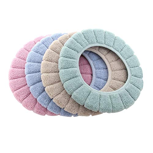 Toppathy 4 cores capas de assento de vaso sanitário, laváveis, almofada de assento de vaso sanitário, almofadas de cobertura de assento de vaso sanitário para inverno