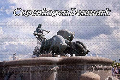 Puzzle für Erwachsene Dänemark Gefion Brunnen Kopenhagen Puzzle 1000 Stück hölzernes Reisesouvenir