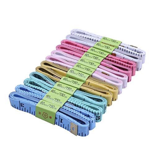 Cabilock 12 cintas de costura, 1.5 m, cinta métrica para medir, herramienta de costura, sastre, dibujo, artesanía, medición