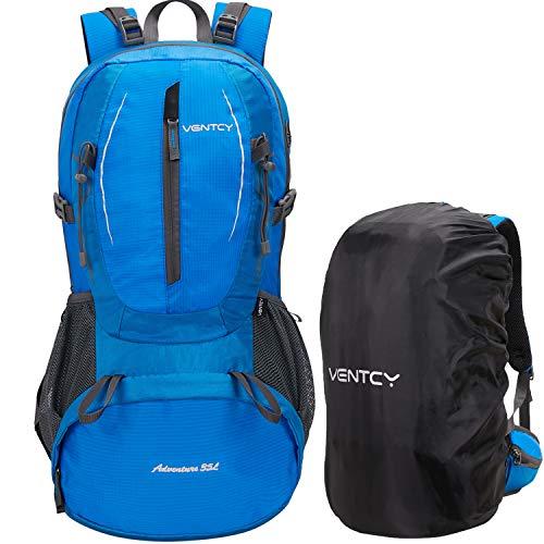VENTCY 35L 40L Wanderrucksack Damen Herren Unisex Wasserdicht Rucksack Trekkingrucksack Daypack Reiserucksack Outdoorrucksack Trekking Camping (Blue 35L)