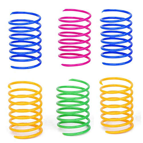 Cat Spring Toys- 20 Pack Colorful Coils for Kittens Creative Supplies Spiral Springs Coil Springs for Cats Kittens Swatting, Biting, Hunting