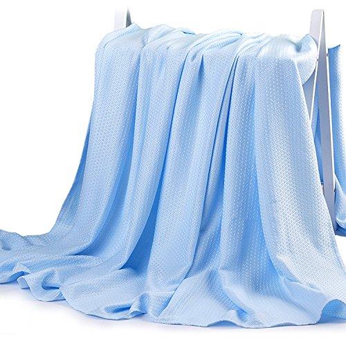 Bambou Couverture d'emmaillotage Bébé Gigoteuse été Nid d'ange Douce Couverture Couchage Enfant Universelle Langer pour Lits Poussettes Landaus Cadeau 100cm x 150CM
