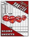 Triple Yahtzee Score Sheets: 100 Triple Yahtzee Score Pads, Triple Yahtzee Game, Triple Yatzee Score Pads, Yahtzee Deluxe Edition