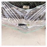 HAI RONG Lonas claras Tarpa de Lona, toldo al Techo, Tela Transparente a Prueba de Lluvias, Cubierta de la Granja, con Perforaciones. Lona Premium (Color : Clear, Size : 0.8X2M)