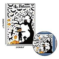 ハロウィーンデコレーション ハロウィーンパーティー用品窓ステッカースケルトンゴーストバットウォールステッカーホーンテッドハウスホラーハロウィーン装飾 ハロウィーンの小道具 (Color : D)