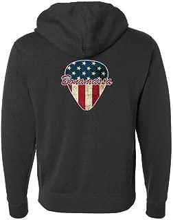 American Style Zip-Up Hoodie (Unisex) - Black