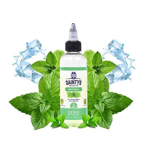Daintys - Menthol - Eco Vape - E-Liquid | 80ML | Sin Nicotina: 0MG | 50VG/50PG | E-Liquido para Cigarrillos Electronicos | Vaper | E Cigarette | E Shisha