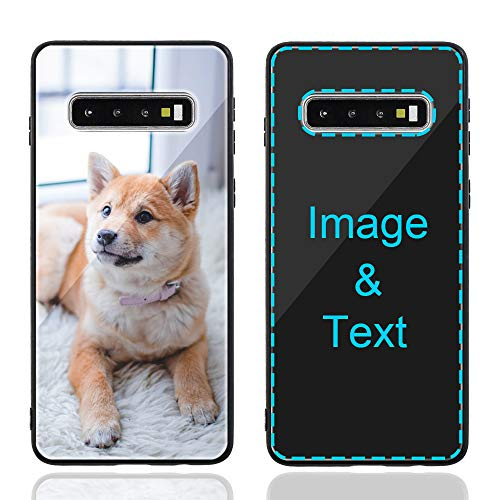 MXCUSTOM Custom Samsung Galaxy S10 Case, Customized Personalized Anti-Scratch Tempered Glass Shockproof Soft TPU Cases with Photo Image Text Picture Design Your Own Phone Covers (GHS-BK-P1)
