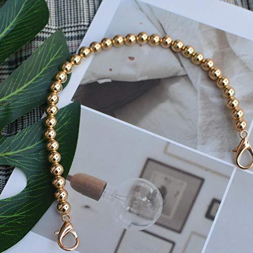 Coner Pearl riem voor tassen handtas accessoires portemonnee riem handvatten schattige kraal ketting tote dames onderdelen, zwart, 110cm